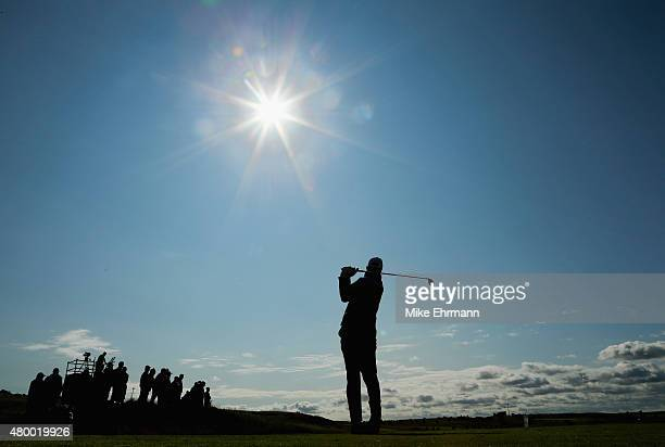 Matt Kuchar of the United States hits his tee shot on the fourth hole during the first round of the Aberdeen Asset Management Scottish Open at...