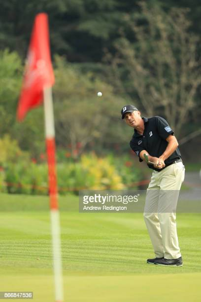 Matt Kuchar of the United States plays a shot on the first hole during the first round of the WGC HSBC Champions at Sheshan International Golf Club...