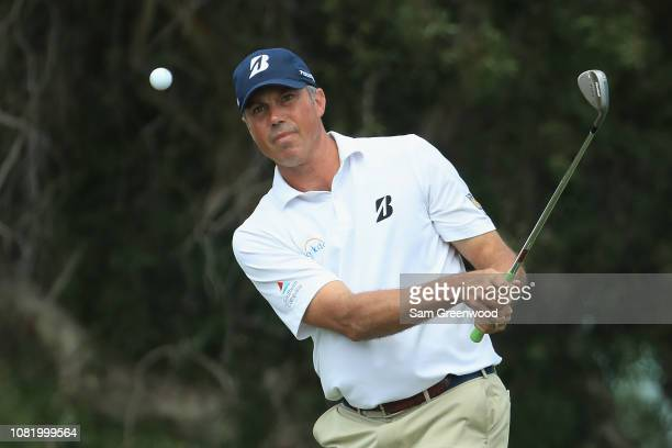 Matt Kuchar of the United States plays a shot on the second hole during the final round of the Sony Open In Hawaii at Waialae Country Club on January...