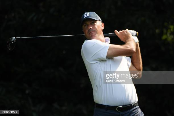 Matt Kuchar of the United States plays his shot from the fifth tee during the second round of the WGC HSBC Champions at Sheshan International Golf...