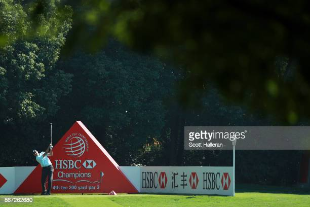 Matt Kuchar of the United States plays his shot from the fourth tee during the third round of the WGC HSBC Champions at Sheshan International Golf...