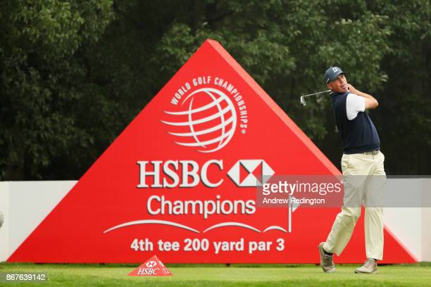 Matt Kuchar of the United States plays his shot from the fourth tee during the final round of the WGC HSBC Champions at Sheshan International Golf...