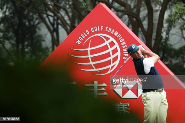 Matt Kuchar of the United States plays his shot from the third tee during the final round of the WGC HSBC Champions at Sheshan International Golf...