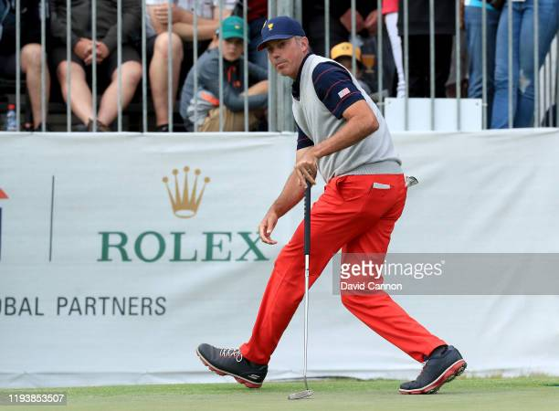 Matt Kuchar of the United States Team just misses a putt for eagle on the 15th hole in his match with Tony Finau in their match against Byeong Hun An...