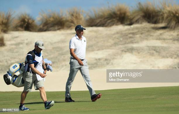 Matt Kuchar of the United States walks on the fourth hole during the final round of the Hero World Challenge at Albany Bahamas on December 3 2017 in...