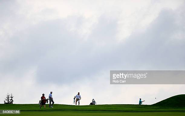 Matt Kuchar of the United States walks toward his ball on the 12th hole during the first round of the US Open at Oakmont Country Club on June 16 2016...