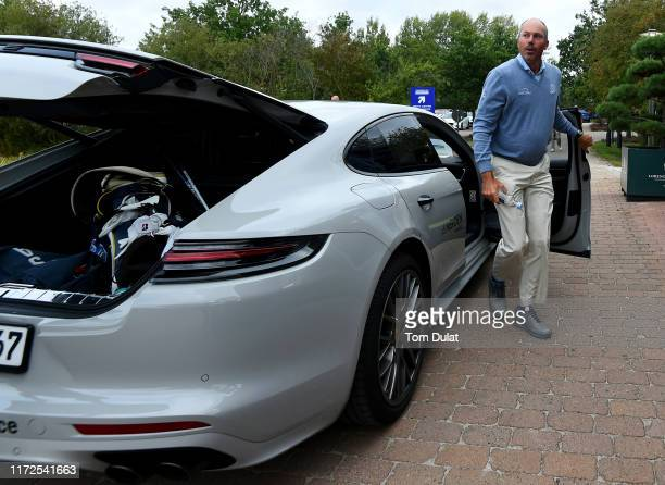 Matt Kuchar of United States arrives during Day One of the Porsche European Open at Green Eagle Golf Courses on September 05 2019 in Hamburg Germany