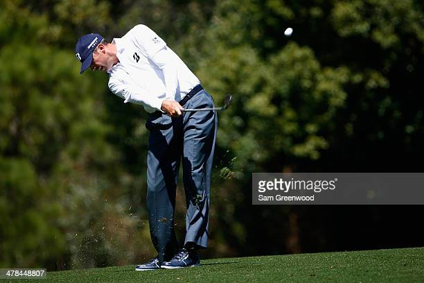 Matt Kuchar plays a shot on the 7th hole during the first round of the Valspar Championship at Innisbrook Resort and Golf Club on March 13 2014 in...