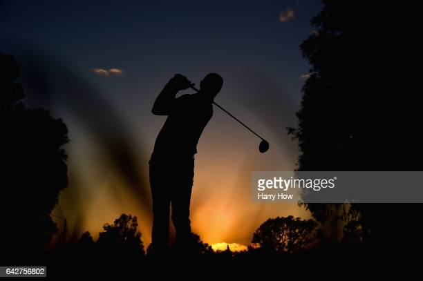 Matt Kuchar plays his shot from the second tee during the third round at the Genesis Open at Riviera Country Club on February 18 2017 in Pacific...