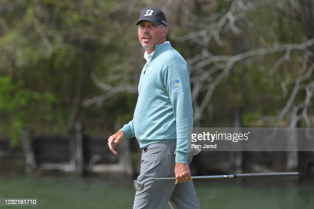 Matt Kuchar walks on the 12th green during the semifinal match at the World Golf Championships-Dell Technologies Match Play at Austin Country Club on...