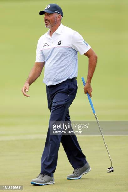 Matt Kuchar walks on the 16th hole green during round three of the AT&T Byron Nelson at TPC Craig Ranch on May 15, 2021 in McKinney, Texas.