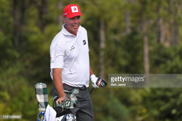 Matt Kuchar warms up on the range during the final round of the World Golf Championships-Workday Championship at The Concession on February 28, 2021...