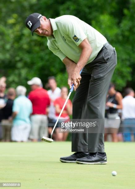 Matt Kucher putts during the second round of the Memorial Tournament at Muirfield Village Golf Club in Dublin Ohio on June 01 2018