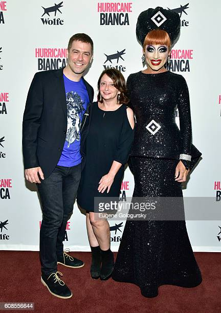 Matt Kugelman Rachel Dratch and Bianca Del Rio attend the US Premiere Of HURRICANE BIANCA Starring Bianca Del Rio at DGA Theater on September 19 2016...