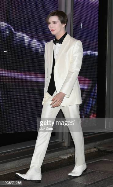 Matt Kuwata attends the Yves Saint Laurent Beaute Omotesando Flagship Boutique opening ceremony on March 26 2020 in Tokyo Japan
