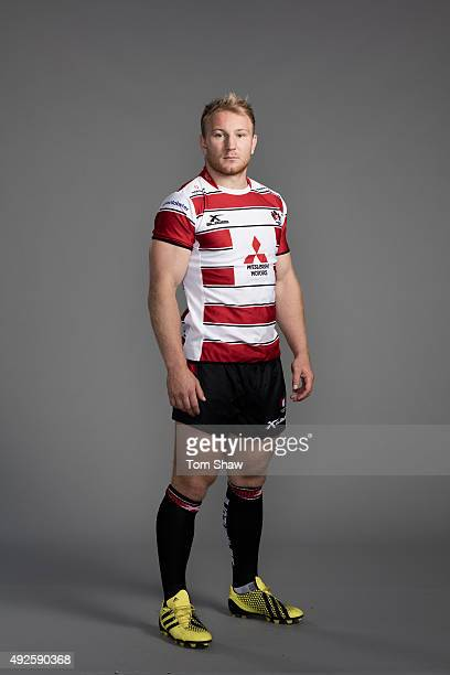 Matt Kvesic of Gloucester poses for a picture during the Gloucester Rugby Photocall at Hartpury College on September 18 2015 in Hartpury England