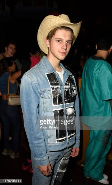 Matt Lange attends Podwall Entertainment's 10th Annual Halloween Party presented by Maker's Mark on October 31 2019 in West Hollywood California
