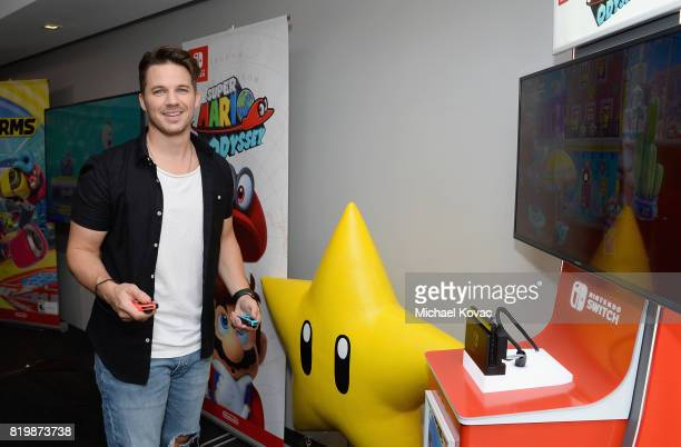 Matt Lanter of the television series 'Timeless' stopped by Nintendo at the TV Insider Lounge to check out Nintendo Switch during ComicCon...