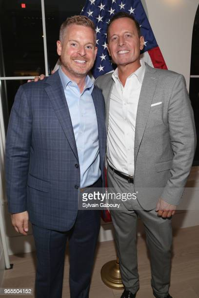 Matt Lashey and Ambassador Richard Grenell attend Ambassador Grenell Goodbye Bash on May 6 2018 in New York City