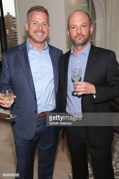 Matt Lashey and Zachary McAdoo attend Ambassador Grenell Goodbye Bash on May 6 2018 in New York City
