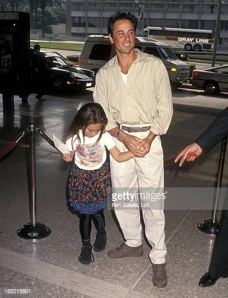 Matt Lattanzi and daughter Chloe Lattanzi attend the Home Alone 2 Lost in New York Century City Premiere on November 15 1992 at Cineplex Odeon...