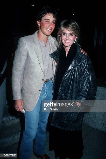 Matt Lattanzi and Olivia Newton-John during Matt Lattanzi and Olivia Newton-John Sighting at Chasen's Restaurant in Beverly Hills - December 1, 1983...