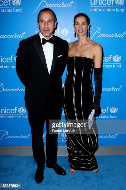 Matt Lauer and Annette Lauer attend 2009 UNICEF SNOWFLAKE BALL at Cipriani 42nd St on December 2 2009 in New York City