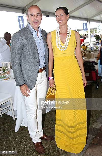 Matt Lauer and Annette Lauer attend the 39th Annual Hampton Classic Horse Show Grand Prix on August 31 2014 in Bridgehampton New York