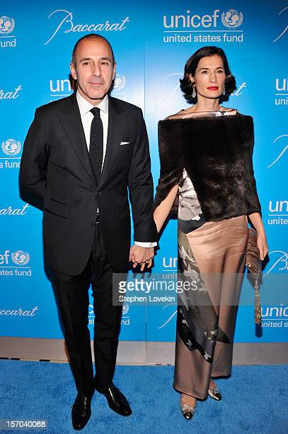 Matt Lauer and Annette Lauer attend the Unicef SnowFlake Ball at Cipriani 42nd Street on November 27 2012 in New York City