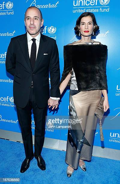 Matt Lauer and Annette Lauer attend UNICEF Snowflake Ball 2012 at Cipriani 42nd Street on November 27 2012 in New York City