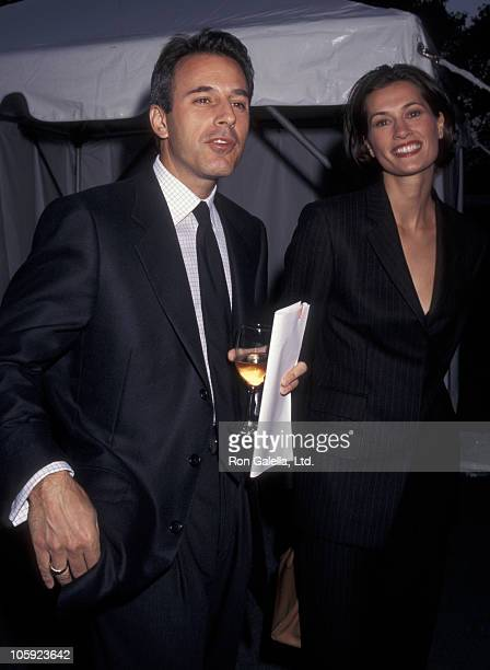 Matt Lauer and Annette Roque during 3rd Great Party to Save the Nature Conservancy Benefit at Central Park in New York City New York United States