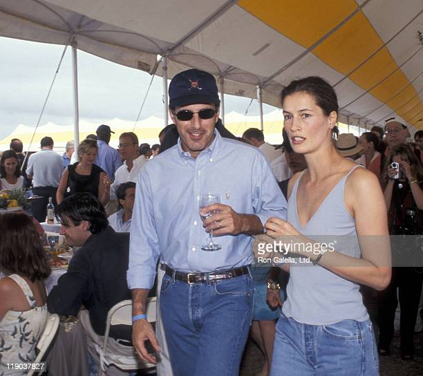 Matt Lauer and Annette Roque during Hamptons Classic at Snake Hollow in Bridgehampton New York United States