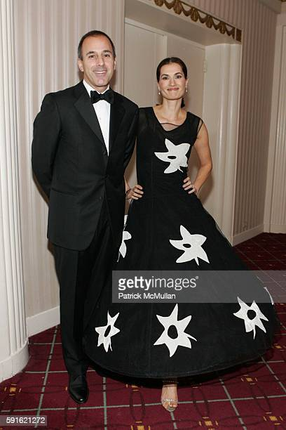 Matt Lauer and Annette Roque Lauer attend Baccarat Presents the 2nd Annual UNICEF SNOWFLAKE BALL at WaldorfAstoria Hotel on November 28 2005 in New...