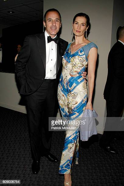 Matt Lauer and Annette Roque Lauer attend TIME Magazine's 100 Most Influential People 2007 at Jazz at Lincoln Center on May 8 2007 in New York City