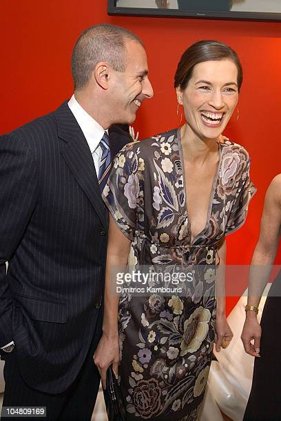 Matt Lauer and Annette Roque Lauer during Escada and InStyle Host Benefit for the US Fund for UNICEF at ESCADA Fifth Avenue in New York City New York...