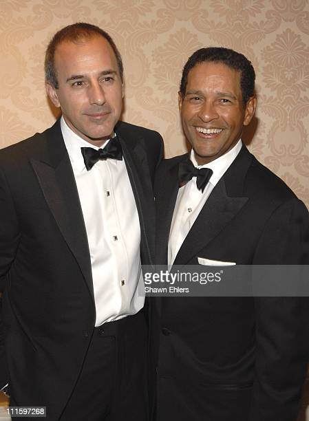 Matt Lauer and Bryant Gumbel during The Museum of Modern Image Honors Matt Lauer and Debra L Lee at The St Regis in New York City New York United...
