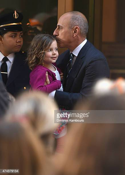 Matt Lauer and his daughter attend NBC's Today at the NBC's TODAY Show on May 22 2015 in New York New York