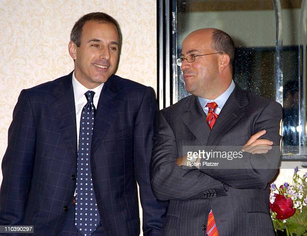 Matt Lauer and Jeff Zucker during The Phoenix House Benefit Honors Jeff Zucker with Phoenix Rising Award at The Waldorf Astoria Hotel in New York...