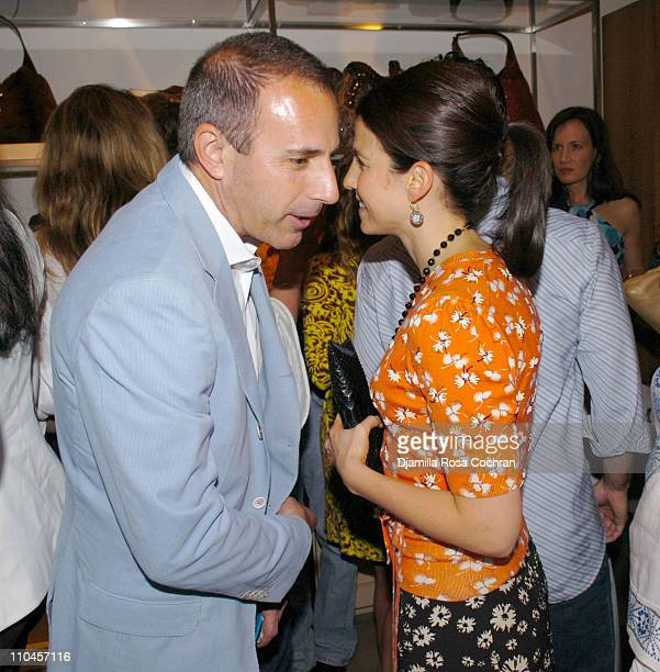 Matt Lauer and Jessica Seinfeld during Gucci Celebrates The Opening of The New East Hampton Store - June 3, 2006 at Gucci Store in East Hampton, New...