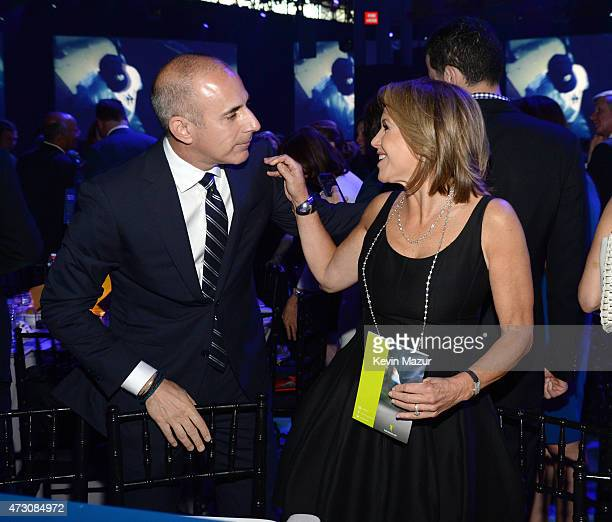 Matt Lauer and Katie Couric attend The Robin Hood Foundation's 2015 Benefit at Jacob Javitz Center on May 12, 2015 in New York City.