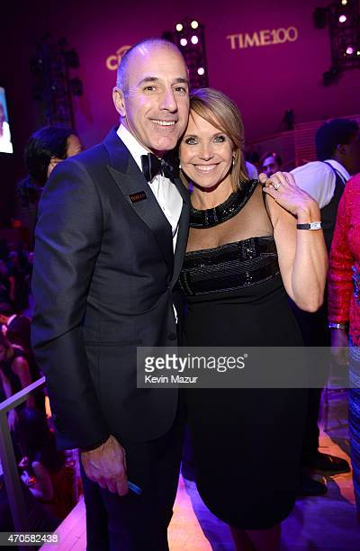 Matt Lauer and Katie Couric attend TIME 100 Gala TIME's 100 Most Influential People In The World at Jazz at Lincoln Center on April 21 2015 in New...