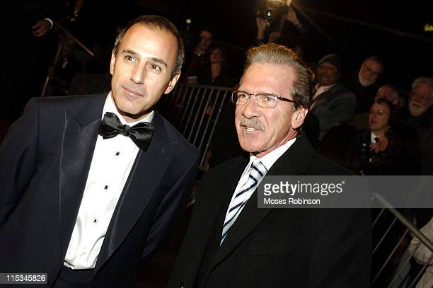 Matt Lauer and Pat O'Brien during Muhammad Ali Center Grand Opening Red Carpet at Muhammed Ali Center in Louisville Kentucky United States