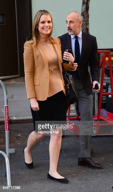Matt Lauer and Savannah Guthrie are seen waling in Midtown on March 8 2017 in New York City