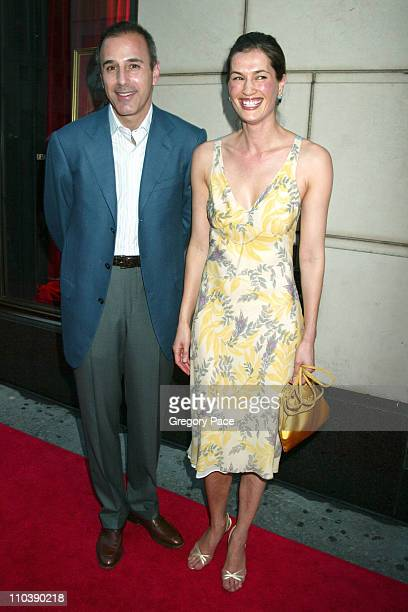 Matt Lauer and wife Annette Lauer during Lotsa de Casha by Madonna Book Launch Party at Bergdorf Goodman in New York June 7 2005 at Bergdorf Goodman...