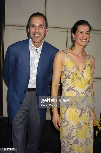 Matt Lauer and wife Annette Lauer during Lotsa de Casha by Madonna Book Launch Party at BergdorfGoodman in New York June 7 2005 Outside Arrivals at...