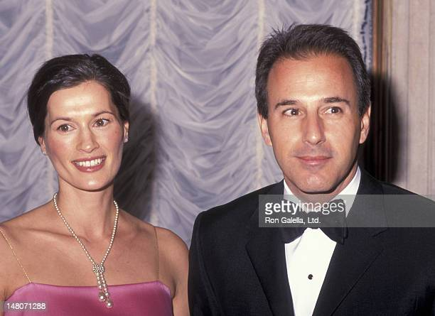 Matt Lauer and wife Annette Roque attend ASPCA Bergh Ball Honoring Roger A Caras on April 25 2001 at the Plaza Hotel in New York City