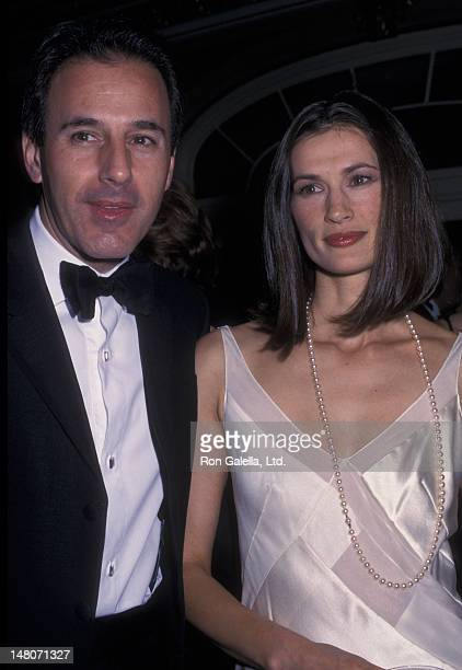 Matt Lauer and wife Annette Roque attend ASPCA Bergh Ball Honoring Roger A Caras on April 25 2002 at the Plaza Hotel in New York City
