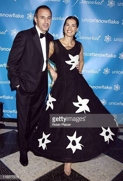 Matt Lauer and wife Annette Roque Lauer during 2nd Annual UNICEF Snowflake Ball Arrivals at The Waldorf Astoria Hotel in New York City New York...