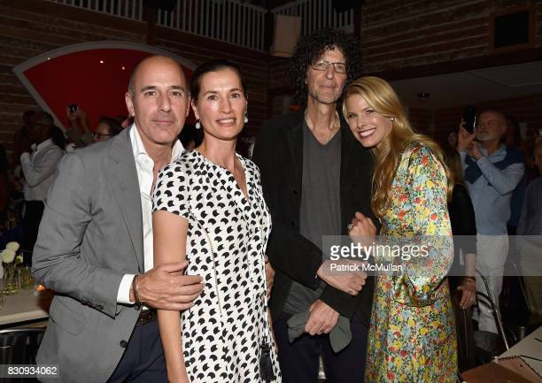 Matt Lauer Annette Roque Howard Stern and Beth Ostrosky Stern attend Apollo in the Hamptons 2017 hosted by Ronald O Perelman at The Creeks on August...