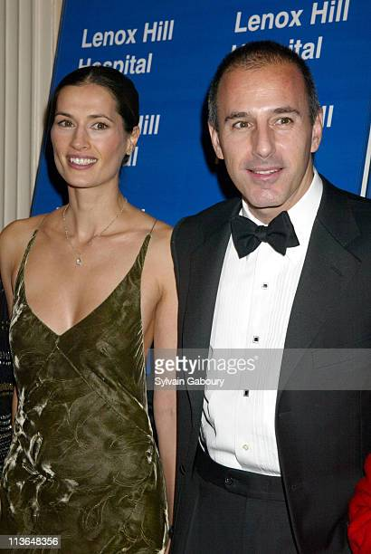 Matt Lauer Annette Roque Lauer during Bette Midler Receives the Medal of Distinction by Lenox Hill Hospital at 2002 Autumn Ball at Waldorf Astoria in...